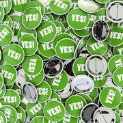 Yes badges - stock illustration