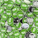 Stock Illustration of Yes badges