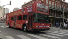 Sightseeing Bus in the French Quarter of New Orleans Stock Footage