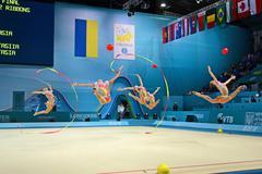Kiova - 1 syyskuu: 32. rytmisen voimistelun MM-kisoissa on 1 syyskuu. Kuvituskuvat