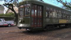 Historic St Charles Trolley - New Orleans 2 Stock Footage