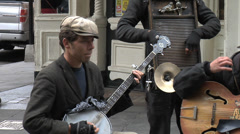Street Band In French Quarter, New Orleans Stock Footage