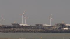 Zeebrugge - Park windfarm (Belgium) Stock Footage