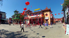 Los Angeles Chinatown- People Walking, Sight-seeing - stock footage