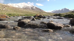 Beautiful scene in the Pamirs, Tajikistan Stock Footage