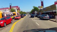 POV Driving Street In Los Angeles Chinatown - stock footage