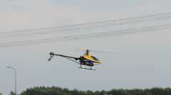 RC helicopter flying around Stock Footage