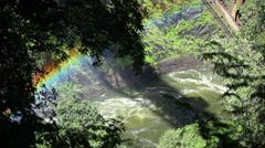 River Canyon Rainbow 01 HD - stock footage