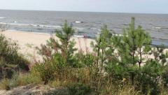 Baltic Sea and the beach. 2 Stock Footage