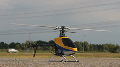 RC Helicopter taking off, close-up Stock Footage