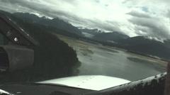 Alaskan bush pilot, landing juneau Stock Footage