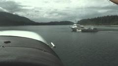 Alaskan bush pilot, boats Stock Footage
