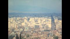 Athens 1970: cityscape from the Parthenon Stock Footage