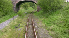 POV Travelling the railway line Stock Footage