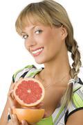 Showing grapefruit Stock Photos