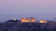Stock Video Footage of Acropolis Parthenon day night transition time lapse