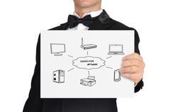 Järjestelmän tietokoneen verkko Kuvituskuvat