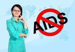 No aids concept Stock Photos