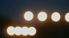 Countryside airport, blinking signal lights - stock footage