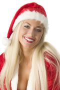 Blond santa claus Stock Photos