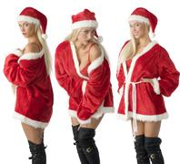 three santa claus - stock photo