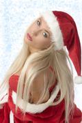 the santa claus bra - stock photo