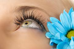 Creative eyelashes Stock Photos