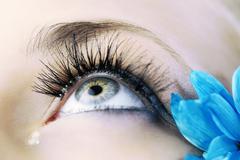 The eye closeup Stock Photos