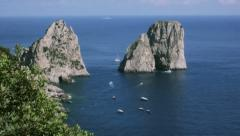 Famous Stacked Rock Formations of Capri Italy - 29,97FPS NTSC - stock footage