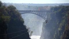 Victoria Falls Bridge 03 HD Stock Footage