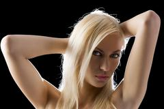 blond sexy woman - stock photo