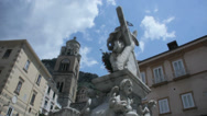 Stock Video Footage of The Fountain of Sant Andrea Amalfi Italy