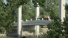 Prince's Island Bridge Stock Footage