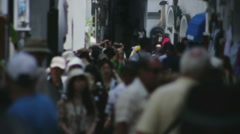 Tourists Walking through Shopping Street in Amalfi Italy - 29,97FPS NTSC Stock Footage