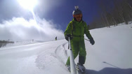 Stock Video Footage of Ski sport man downhill at winter