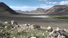 Beautiful valley in the Pamirs, Tajikistan Stock Footage
