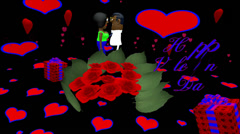 Valentines Day rose with dark skin characters - HD Stock Footage