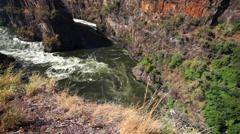 Zambezi River Gorge 05 HD Stock Footage