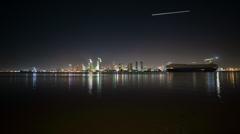 San Diego Harbor Timelapse - stock footage