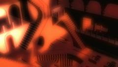 Interior illusion animation Stock Footage
