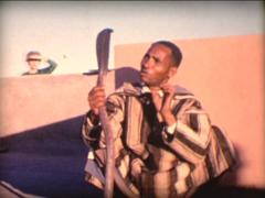 8MM MOROCCO Marrakech snake charmer - 1963 Stock Footage