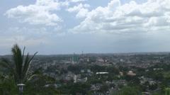 Santa Clara Cuba as shot from Capital Hill Stock Footage