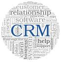 Stock Illustration of customer relationship management system crm in word tag cloud