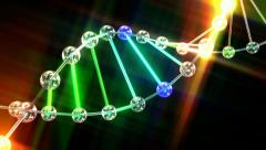Dna double helix animation Stock Footage