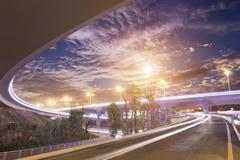 overpass bridge - stock photo