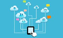 cloud social - stock illustration