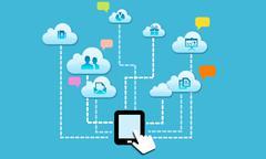 Cloud social Stock Illustration
