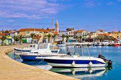 Town of pakostane in dalmatia Stock Photos