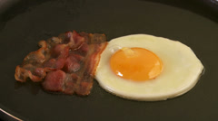 Egg and bacon, food Stock Footage