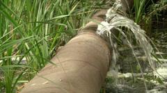 Leaking water pipe Stock Footage